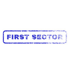 First sector rubber stamp vector