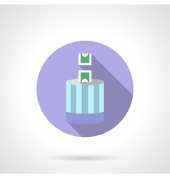 Flat round icon for donation vector
