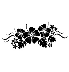 Floral border silhouette vector