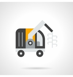 Forage harvester flat color icon vector image vector image