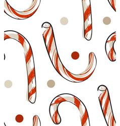 Hand drawn abstract christmas seamless vector