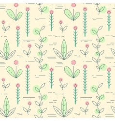 linear plant icons pattern vector image vector image