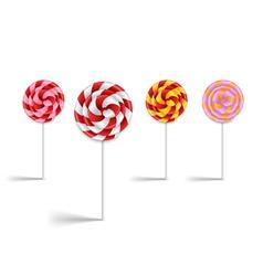Lollipop collection vector image