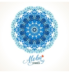 mandala round ornament vector image vector image