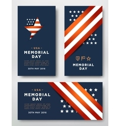 Memorial day cards vector