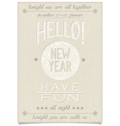 New year greetings and wishes calligraphy design vector image