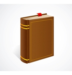 old book with bookmark isolated icon vector image vector image