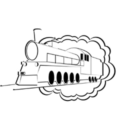Old steam locomotive-1 vector image