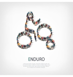 People sports enduro vector