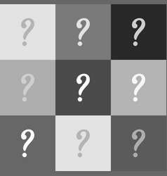 question mark sign grayscale version of vector image