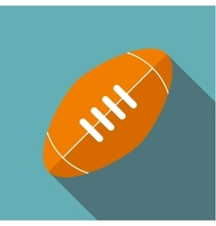 Rugby ball icon flat style vector
