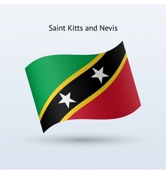 Saint Kitts and Nevis flag waving form vector image