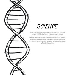 Science dna code structure icon poster vector