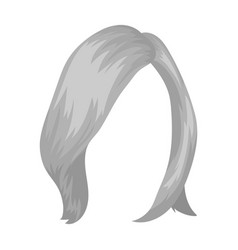 Shortwhite back hairstyle single icon in vector