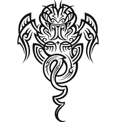 Taniwha pattern vector image
