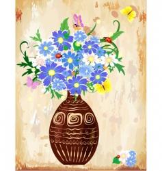 vase wildflowers vector image vector image