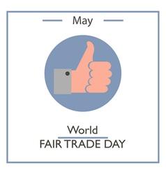 World Fair Trade Day vector image vector image