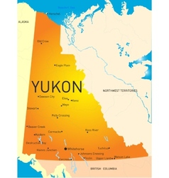 Yukon province vector image vector image