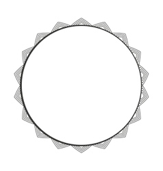 Circle seal frame icon vector