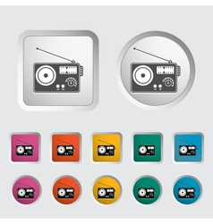 Radio single icon vector