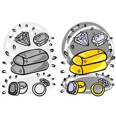 hand drawn Money art vector image