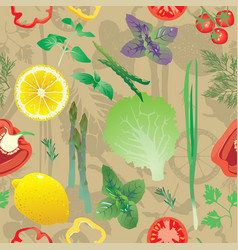 seamless pattern with colored greens vector image