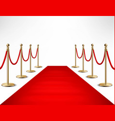 Red carpet celebrities formal event banner vector