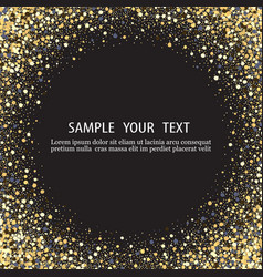 black background with shiny particles vector image