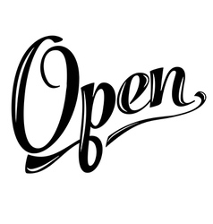retro open sign on white vector image