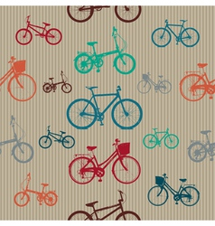 Vintage bicycles seamless pattern vector