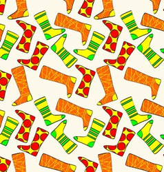 Seamless pattern with socks background vector