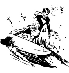 Surfer short board vector