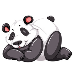 Adorable panda vector