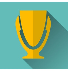 Modern trophy cup icon vector