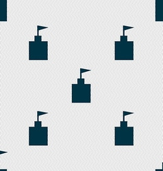 Tower icon set flat modern seamless abstract vector