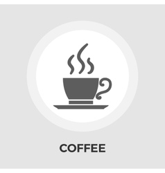 Cup of coffee flat icon vector