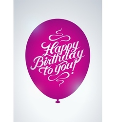 Calligraphic retro birthday card vector
