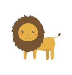 Lion realistic childish vector