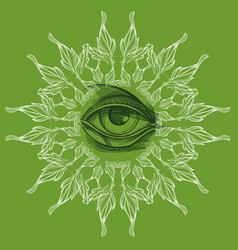 A magical eye in the style of boho contour for vector