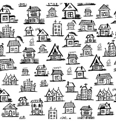 Art houses seamless background for your design vector image vector image