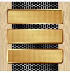 boardMett3BanGd vector image vector image