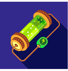 Chemistry device icon flat style vector