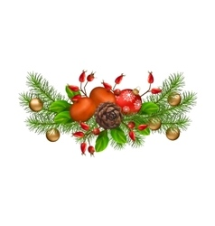 Christmas decorations vector