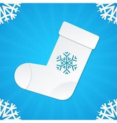 christmas postcard socks 3 vector image vector image