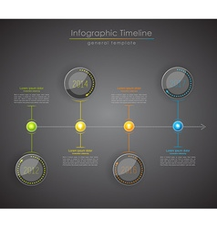 Colorful Infographic typographic timeline report vector image vector image