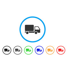 delivery truck rounded icon vector image vector image