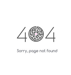 error 404 page not found vector image