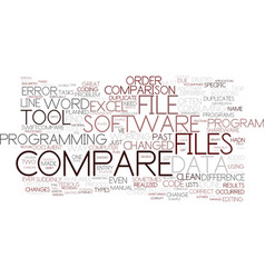 File compare tools to servive text background vector