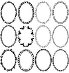 Frame oval vector