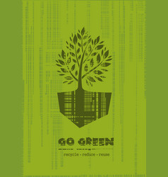 Go green recycle reduce reuse logo design vector
